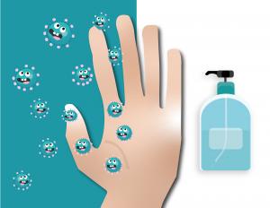 Desinfectie handen dispenser